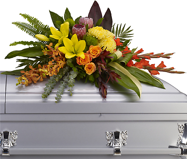Island Memories Casket Spray