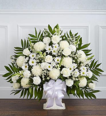 Heartfelt Tribute™ Floor Basket- White