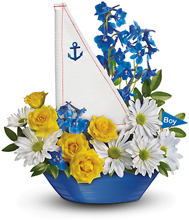 Ahoy It\'s A Boy Bouquet